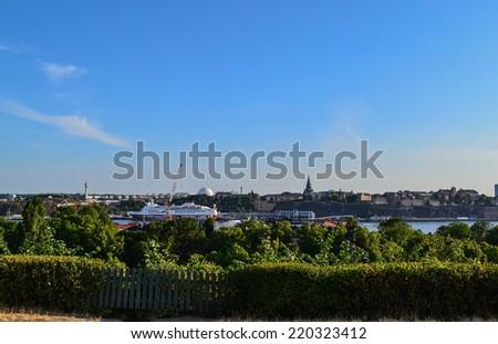 Stockholm, Sweden, 28 July 2014 Park reserve. Skansen views of Stockholm. - stock photo