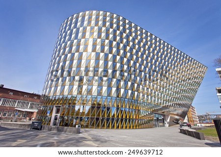 STOCKHOLM, SWEDEN - MAY 6, 2014. Swedish Medical University Karolinska Institutet, Aula Medica.  - stock photo