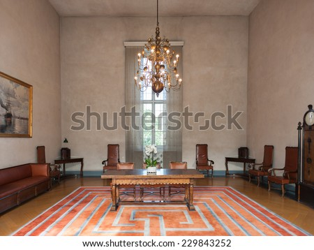 STOCKHOLM, SWEDEN - SEP 7, 2014: One of the rooms at the Stockholm City Hall, Sweden. It is the venue of the Nobel Prize banquet and one of Stockholm's major tourist attractions.