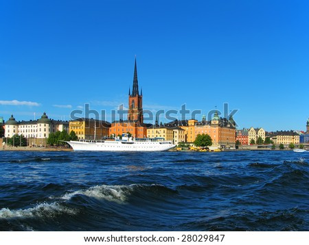 Stockholm, the Old Town - stock photo
