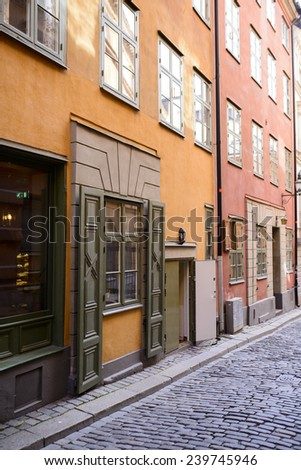 Stockholm: the streets of the Old Town - stock photo