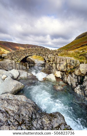 Stockley Bridge in the Lake District National Park in Cumbria