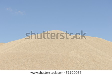 stockpile of sand - stock photo
