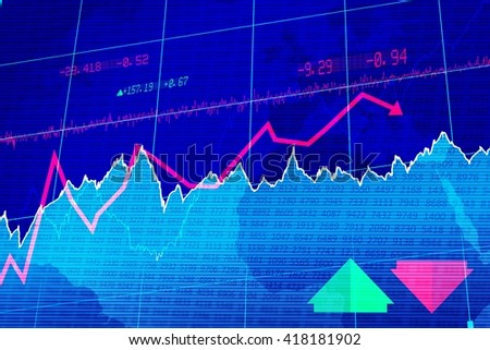 Stocks and shares graph