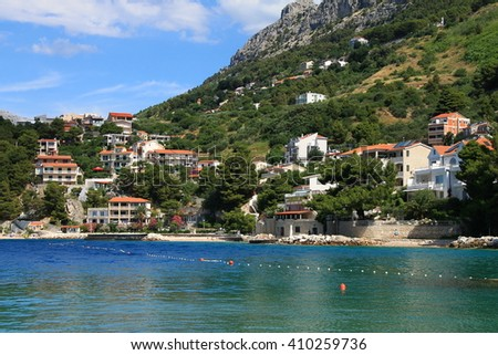 STOMARICA - CROATIA - JUNE 24,2015 : Small mediterranean village Stomarica near the Brela , Croatia
