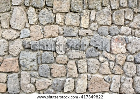 Stone and brick wall textured background