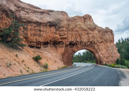 Stone Arch at Capitol Reef National Park, Utah, USA - stock photo