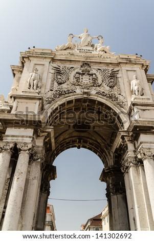 Stone arch at Terreiro - stock photo