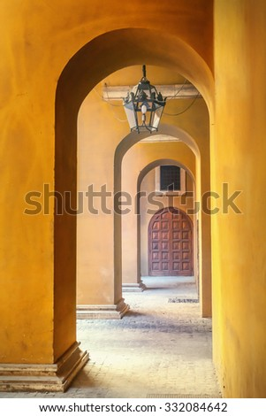 Stone archway - stock photo
