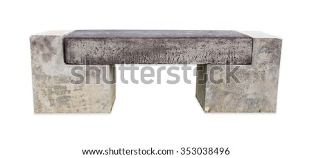Stone bench. - stock photo
