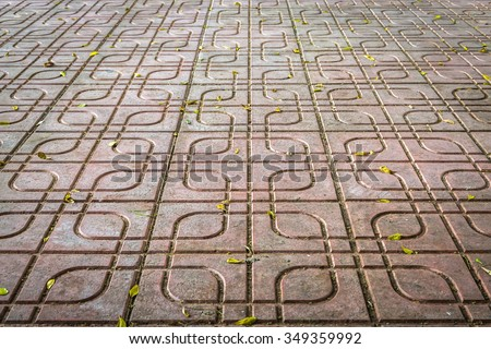 stone block paving pattern background - stock photo