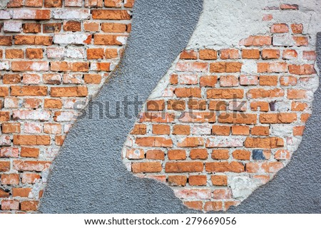 stone, brick, texture, plaster, wall, background, old, abstract, stone, concrete, weathered - stock photo