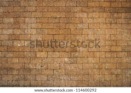 stone brick wall - stock photo