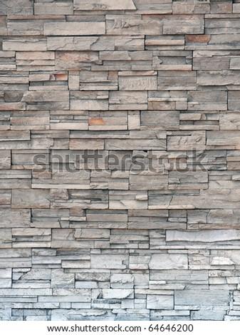 Stone brick wall, Modern brick stone wall - stock photo