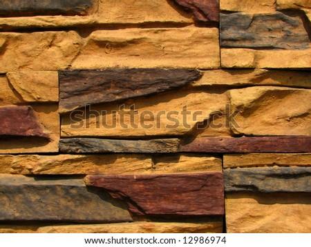 stone brick wall pattern 4 - stock photo
