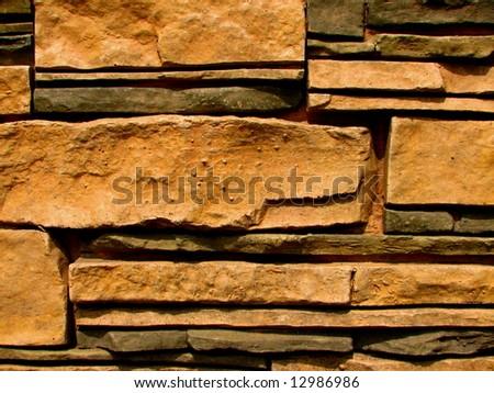 stone brick wall pattern 8 - stock photo