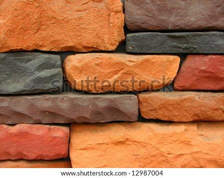 stone brick wall pattern 12 - stock photo