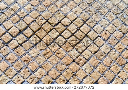 Stone Brick Wall Texture with copy space, may use as background - stock photo