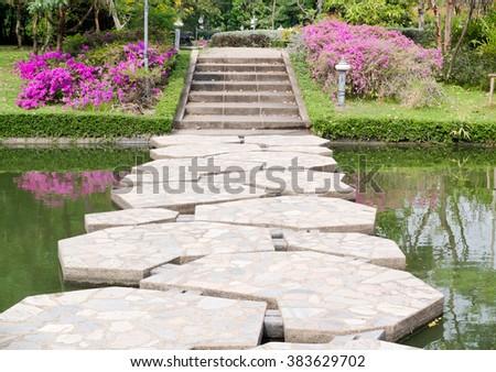 stone bridge - stock photo