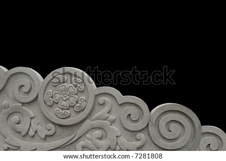Stone carved pattern