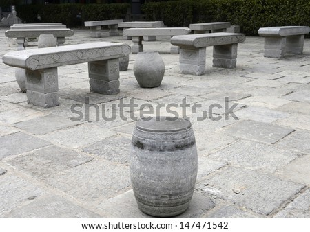 Stone chairs - stock photo