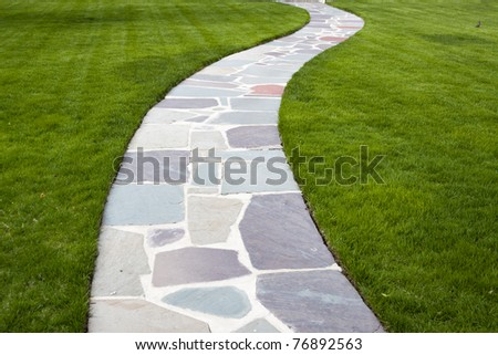Stone Color Walkway - stock photo