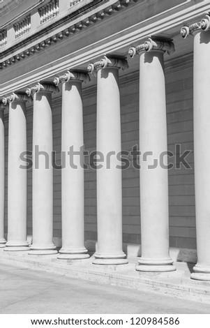 Stone Columns - stock photo