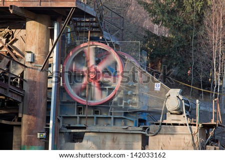 Stone crusher at the quarry - stock photo