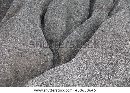 Stone crusher in surface mine quarry,quarry stones for construction,minerals, earth, black coa,abandoned quarry during sunset in malaysia. - stock photo