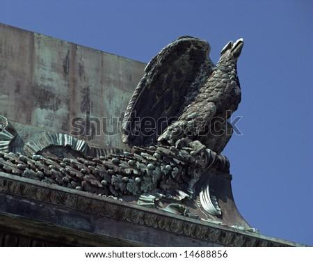 stone eagle - stock photo
