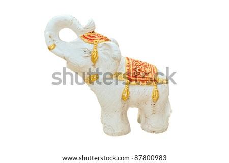 stone elephant statue - stock photo