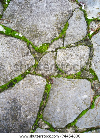 Stone floor in France. - stock photo