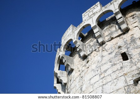 Stone fort in Korcula, Croatia - stock photo
