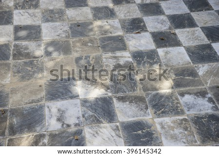stone, gamero textured floor or chess, nineteenth century, grungy texture and old - stock photo