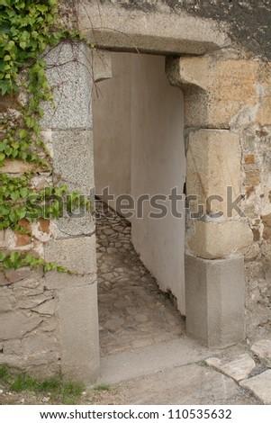 Stone gate - stock photo