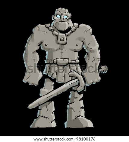 Stone Golem - stock photo