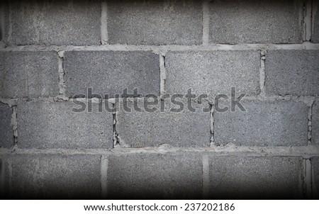 Stone Grey Brick Wall Art, Texture - stock photo