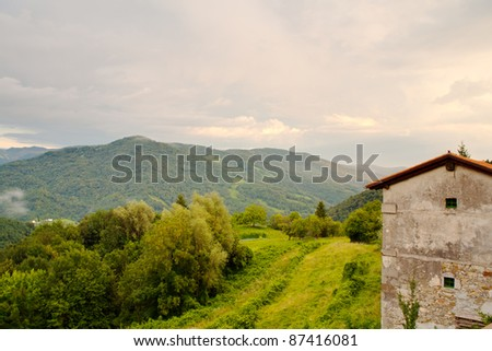 Stone house in the Soca Valley, Slovenia