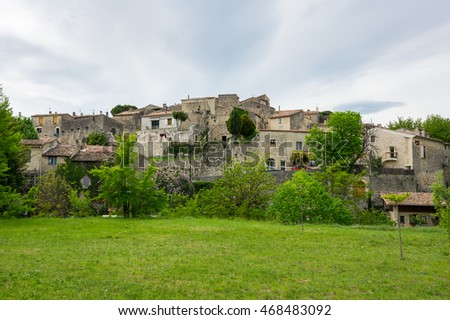 Stone houses of typical village in Provence, France