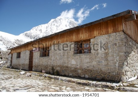 Stone hut in the Cordilleras mountain
