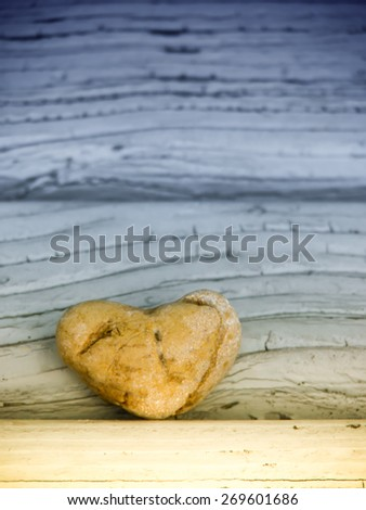 stone in heart shape  - stock photo