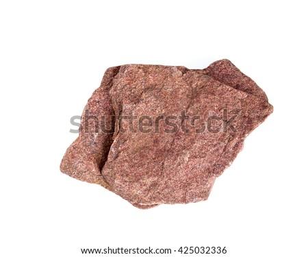 stone isolated on white - stock photo