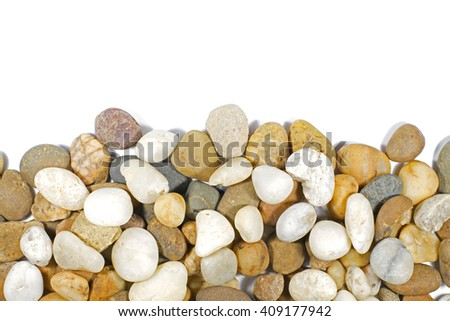 Stone isolated on white background