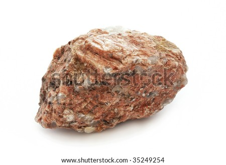 stone isolated on white background,Granite