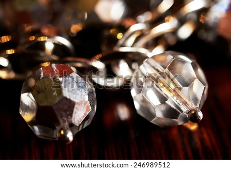 Stone jewels clouse up - stock photo