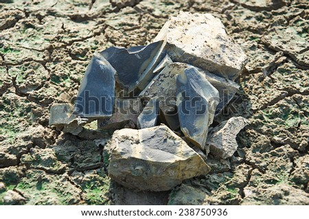 Stone, laid on the ground - stock photo