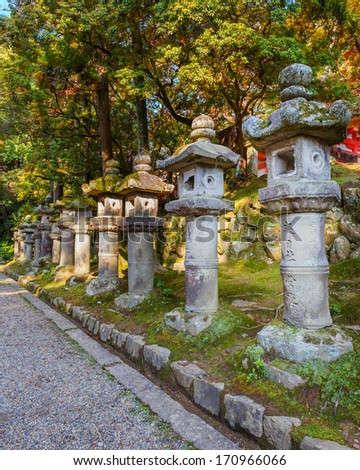 Stone Lanterns at Kasuga Taisha in Nara