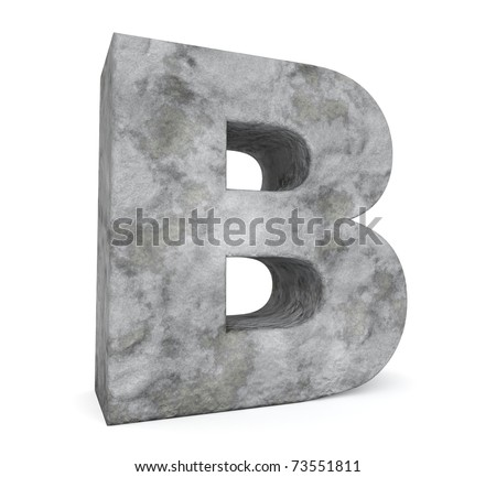 stone letter collection - letter B