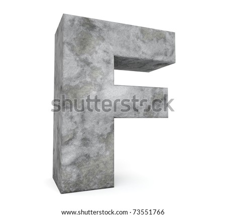 stone letter collection - letter F