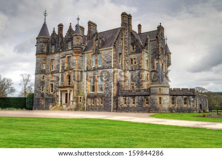 Stone mansion at Blarney castle in Co. Cork, Ireland - stock photo